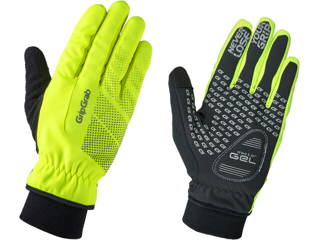 GripGrab Ride Windproof Hi-Vis Thermal Gloves Fluo Yellow